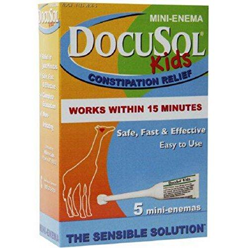 Docusol Kids Mini-enema 5 Count (3 PACK)