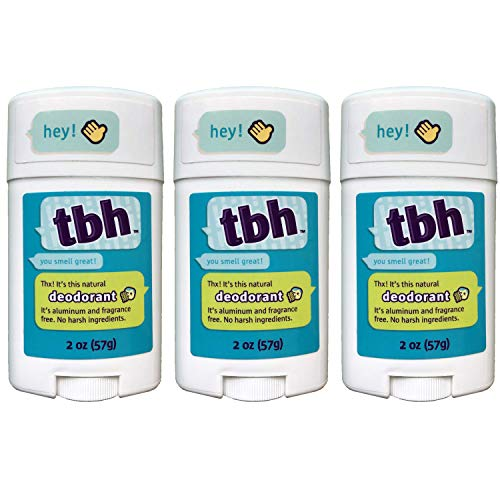 TBH Kids Deodorant - Kids Deodorant Boys and Girls - Made Without Aluminum & Parabens - Works For All Skin Types (3 Pack)