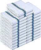 Utopia Towels - Paño de Cocina Lavable a máquina de algodón Cocina Blanca Paños de Cocina Toallas de té Toallas (38 x 64 cm) (Azul) (Azul, 24 Piezas)