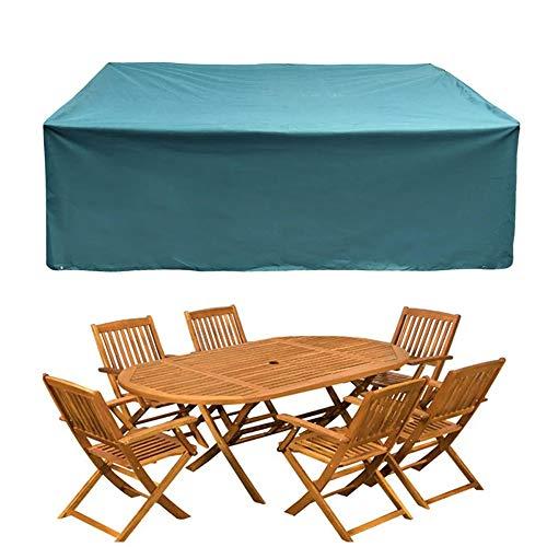 Jtoony - Funda para muebles de exterior con protección UV, sol, lluvia, polvo, muebles al aire libre, cubierta impermeable para patio o jardín, Tejido Oxford, azul, Small