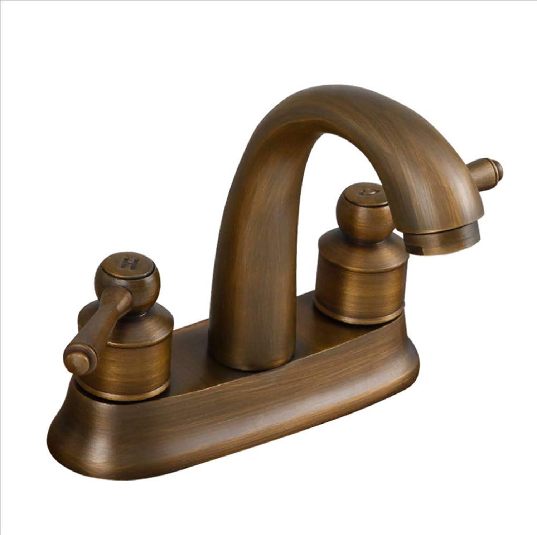 Single Hole Double Handles Handles Handles Low Arc Bathroom Faucet,Oil Rubbed Bronze Antique Brass Bathroom Vessel Sink Faucet,Deck Mount e8fef9
