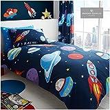 Gaveno Cavailia - Juego de cama y funda de almohada, reversible, de fácil cuidado, color azul marino, polialgodón