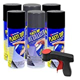 Plasti Dip Black & Metalizer Rim Kit: 4 cans Black, 2 Graphite Pearl Metalizer, 1 Cangun