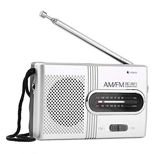 Mini Pocket Radio, Retro Am/FM Tragbares Radio Mini Personal Am FM Beweglichen Digital-Tuning Transistor-Radio 2 Batterie AA FM Für Freund, Relativ, Lieben