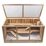 Julido Maxi Hamster Kaʻi Hōʻī Pīwī liʻiliʻi ʻoihana liʻiliʻi Wood Wood Cage ʻoi aku ʻoi aku kaʻi ʻana i ka wai.