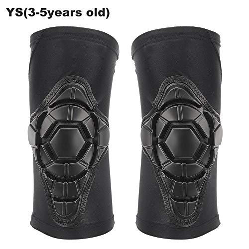 T best Children Kneecap, 2Pcs Anti-Collision High Elastic Soft Polyurethane Fiber Cycling Kneepad Protective Gear Kids/Youth/Adult Knee Pads for Balancing Scooter Skateboarding Push Bike(ys)