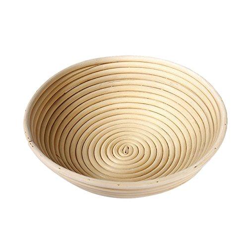 Tenflyer Panier de Fermentation du Pain, Pastry Storage Basket Round Dough Bread Proofing Tray Natural Fermentation Rattan Baskets Foods Fruits Organizer,Sour Dough proofing, Artisan Bread