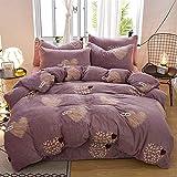 Specifiche: copripiumino 200 * 230 cm, lenzuolo 230 * 250 cm, adatto per letto non inferiore a 1,8 m, federa 48 * 74 cm * 2, tessuto: flanella, poliestere, vantaggi: tessuto comodo, non facile da sbiadire, ecologico e resistente , traspirante e caldo...