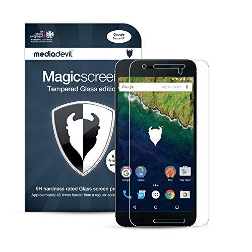 MediaDevil Panzerglasfolie für Google Nexus 6P (2015) - Panzerglas Clear (Unsichtbar) Hartglas Schutzfolie [1 Stück]