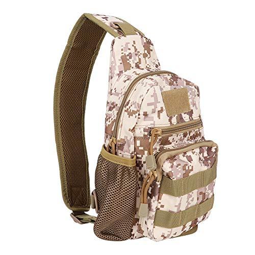 Keenso Haversack, impermeable, resistente a los arañazos, mochila deportiva, táctica de camuflaje, bolsa compacta para senderismo, ciclismo, Sansha Digital Color Cover case Negro
