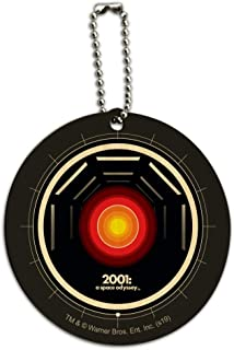 2001: A Space Odyssey Hal Round Wood Luggage Card Suitcase Carry-On ID Tag