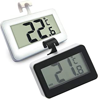 [Upgraded] Refrigerator Fridge Thermometer, Waterproof Freezer Thermometer, Large LCD Digital Display, Max/Min Temperature...