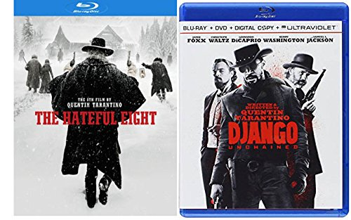 Modern Wild Wild Western BLU-RAY 2 Pack: DJANGO Unchained & The Hateful Eight Double Feature Bundle