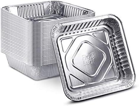 25 Pack 8 x 8 Square Baking Cake Pans Heavy Duty l Disposable Aluminum Foil Tins l Portable product image
