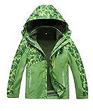 M2C Boys Hooded 3 in 1 Waterproof Fleece Mountain Jacket 7/8 Green
