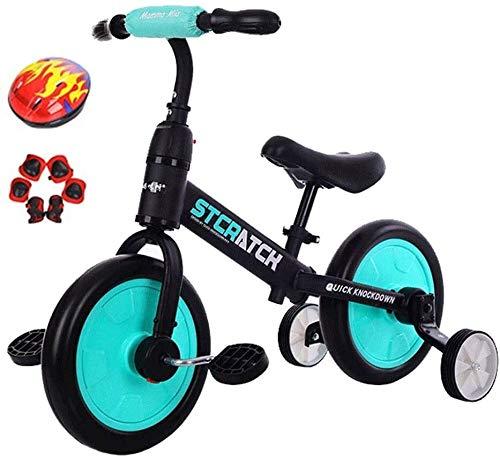 REWD Bicicletas Ligeras para niños Saltar Niño Bicicleta de Equilibrio, de 12 Pulgadas Ruedas, Principiante Jinete Formación, Color: Blanco (Color : Blue, Size : 12inch)