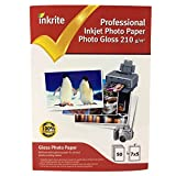 Inkrite PhotoPlus - Papel fotográfico profesional, 210 g/m², 130 x 180 mm, brillante, 50 hojas