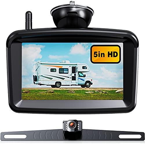 Wireless Backup Camera 5' Monitor, 1080P HD...