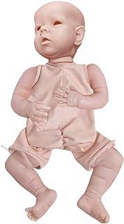 KLOP256 Reborn Baby Doll - Kit realista, para recién nacidos, no barnizado, con tela para regalos para el cuerpo, compañer...