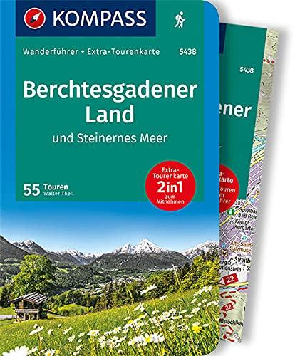 KOMPASS Wanderführer Berchtesgadener Land und Steinernes Meer: Wanderführer mit Extra-Tourenkarte 1:35000, 55 Touren, GPX-Daten zum Download.