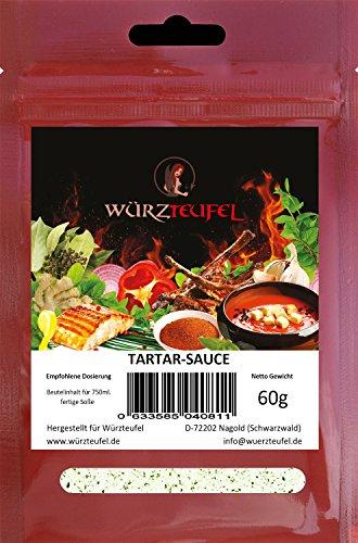 Tartarsoße, Tartar - Sauce in Restaurantqualität. Vegan, Kalorienreduziert. Frei von Geschmacksverstärkern. 2 Beutel je 60g (ca. 40 Portionen)