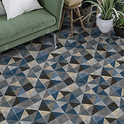 aipipl 25 Piezas de Azulejos Adhesivos geométricos Azul Oscuro, 25 Adhesivos autoadhesivos para Suelo de baldosas de Pared, Cocina, baño, Sala de Estar, Dormitorio, 20x20 cm
