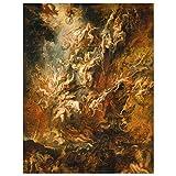 JUNIWORDS Poster, Peter Paul Rubens, Der Höllensturz der