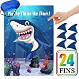 Pin The Fin On The Shark Games Kids Baby Shark Birthday Party Supplies...