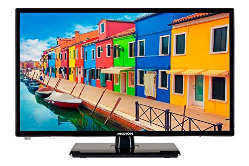 MEDION E12283 54, 6 cm (21, 5 Zoll) Full HD Fernseher (HD Triple Tuner, DVB-T2 HD, 12V KFZ Car-Adapter, CI+, Mediaplayer)