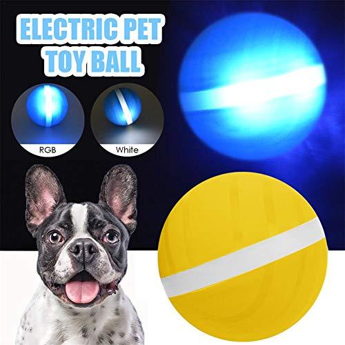 Katzen und Hunde Spielzeug Wicked Balls, Automatisches Rollen, USB Wiederaufladbar, Smart Interactive Pet Toy Ball Kauen Geschenk Für Kätzchen Kitty Doggies Welpen Mit LED Lichter Silikon Wasserdicht