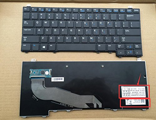 Replacement Keyboard Without Backlit and Pointer for Dell Latitude E5440 E5450, US Layout Black Color