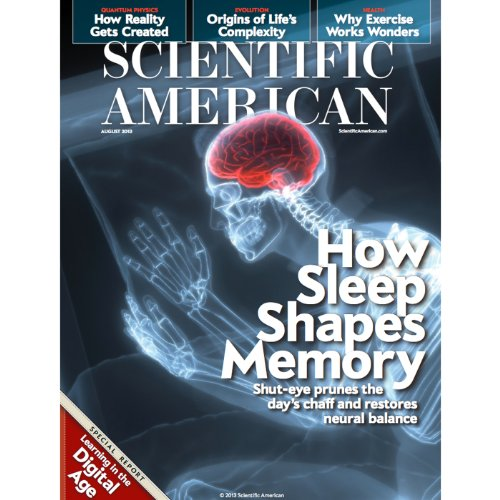 Scientific American, August 2013 audiobook cover art