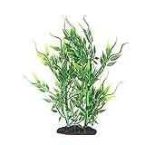 Tanque de peces artificial verde bambú planta acuática acuario simulación hierba de agua DecorationA303 pequeñas hojas de bambú verde