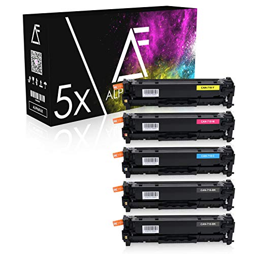 5 Toner kompatibel für Canon 718-2659 2660 2661 2662 B002 - I-Sensys LBP-7200 7210 7660 7680 C CDN CN Series MF-8330 8340 8350 8360 8380 CDN CDW CD Series (Nicht geeignet für I-Sensys MF-724cdw)