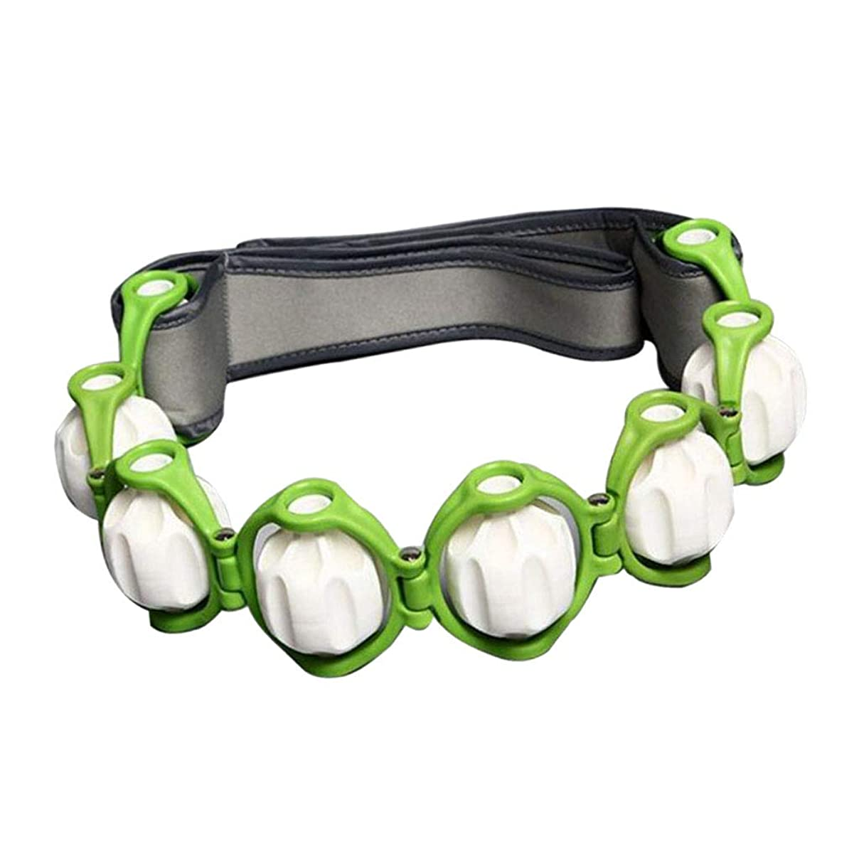 備品デザイナー亡命FLAMEER ボディマッサージローラー ロープ付き 六つボール 4色選べ - 緑, 説明したように