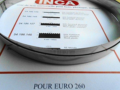 INCA 53.025.136 12mm,LAME DE COUTEAU Biseautés Expert 500