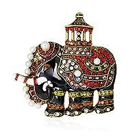 素敵な動物のブローチに新しいレトロな絶妙な象のブローチファッションアクセサリーセーターシルクスカーフボタン