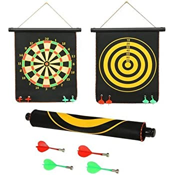 2FONZ® Magnet Dart Board Game for Kids ,Double Sided Magnet Dart Board with Darts, Size- 12 Inches
