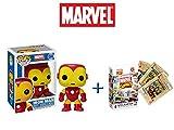 Pop! Marvel #4: Iron Man Vinyl Bobble-Head Sammlerfigur + Kartenspiel Marvel Comics