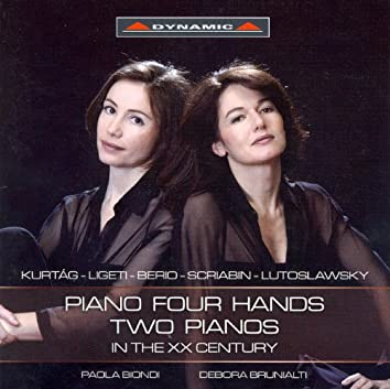 Kurtag / Ligeti / Berio / Scriabin / Lutoslawski: Piano 4-Hands and 2 Piano Works