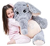 ✔ Super Giant Measures 100cm Tall: IKASA is a brand focusing on producing giant stuffed animal toys. Just click our brand name and enter into the store to get a lovely toy for your loved ones. ✔ Super Soft And Very Plush: IKASA stuffed elephant toy i...
