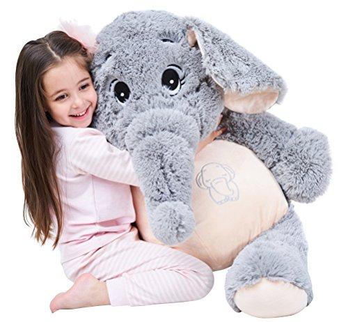 Giant Elephant Stuffed Animal Plush Toys Gifts (Gray, 39 inches)