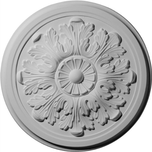 Ekena Millwork CM12LE Legacy Acanthus Ceiling Medallion, 12 3/4'OD x 7/8'P (Fits Canopies up to 3 1/2'), Factory Primed