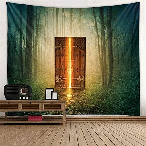 Tapiz de biblioteca de madera vintage sala de estudio tapiz de escena lleno de libros antiguos estantería clásica tapiz de fondo tela a8 73x95cm