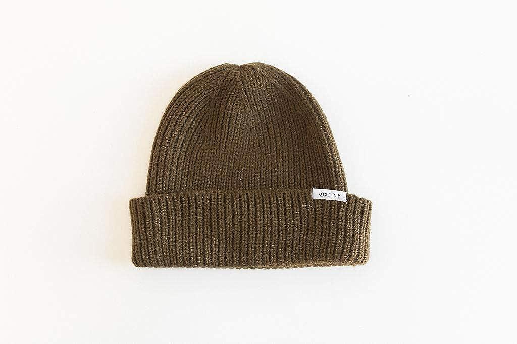 Gigi Pip Ash Fisherman Women's Knit Beanie Hat, Soft Warm Winter Cap