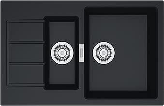 Franke 114.0205.032/granito fregadero fregadero de cocina con /único y mitad cuenco de euroform Base BFG 651 Onyx