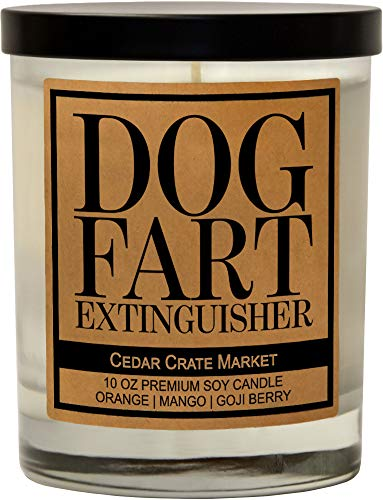Dog Fart Extinguisher - Funny Candles, Funny Dog Lovers Gifts for Women, Scented, Dog Farts Candle, Dog Mom Gifts, Rescue Lovers, BFF, Best Friend, Friendship Gifts, Sassy Gifts, Mother's Day