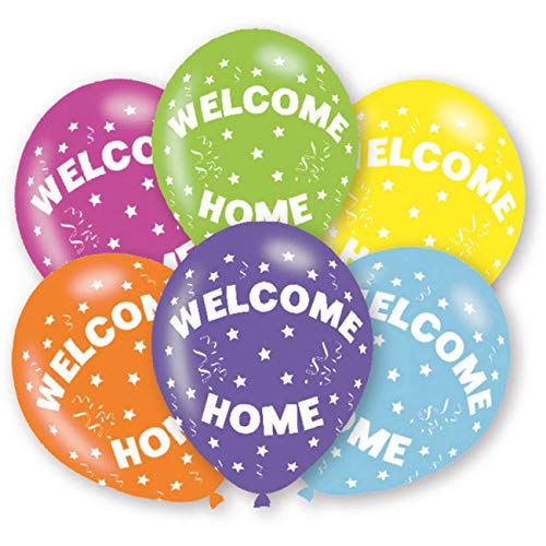 amscan 9901029 6 Latexballons Welcome Home, Bunt