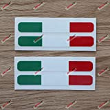 italian flag stripe tape - (2) 4'' Glossy Italy Italian Flag Stripes Decal Stiker Italia a Car Vinyl sda1
