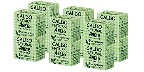 Aneto 100% Natural - Caldo de Verduras - caja de 12 unidades de 500ml